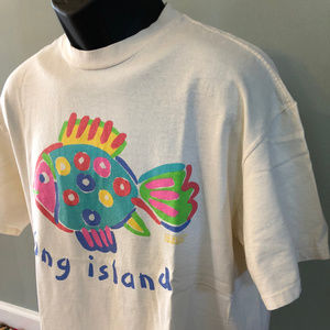 Vintage Shirts - Vintage 90s Long Island New York Shirt NYC
